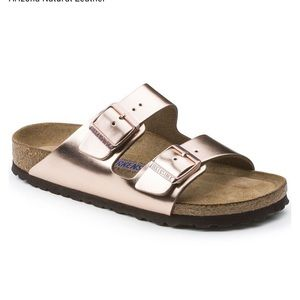Birkenstock Arizona Soft Metallic Copper - size 41